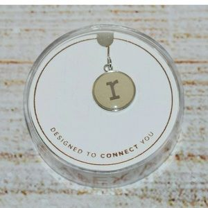 New Alex and Ani Silver Letter r Necklace Charm
